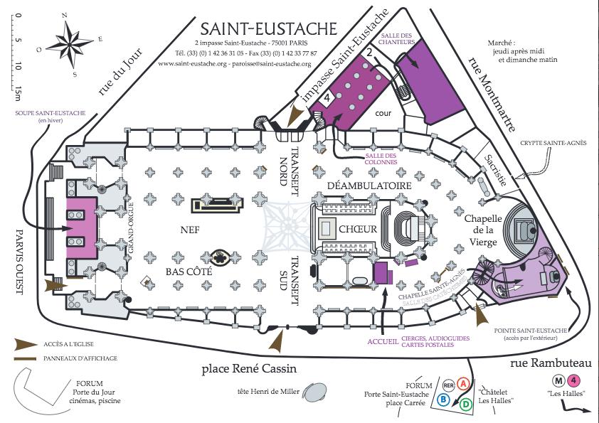 План Церкви Сент-Эсташ